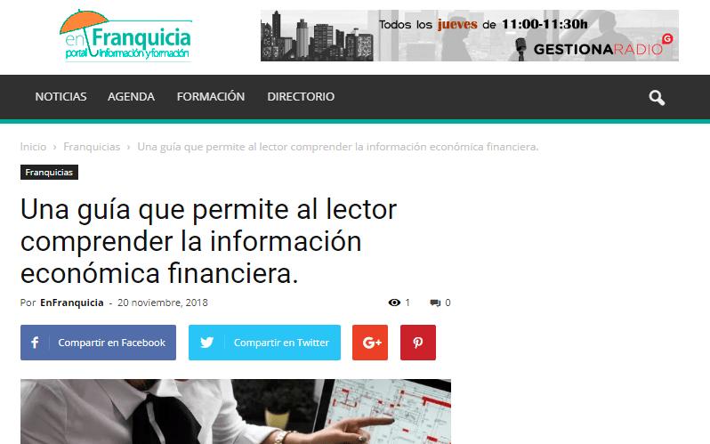 GuíaBurros: Informe Económico Financiero en enFranquicia.