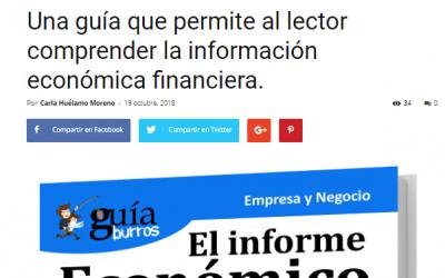 Casa de Letras, medio especializado en literatura, habla del GuíaBurros Informe Económico Financiero