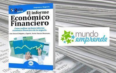 El 'GuíaBurros: El informe Económico Financiero' en la web de Mundo Emprende